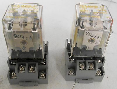 Mixed Lot of Square D Relays and Sockets (1) KP13P14V20 (1) KP13V20 (2) 8501NR62