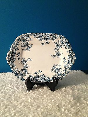 "James Kent  England Blue & White Floral  9"" x 6-3/4"" Tray"