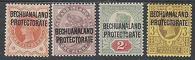 Bechuanaland Protectorate 1897 Qv Gb 1/2D 1D 2D And 3D