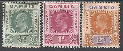 Gambia 1904 Kevii 1/2D 1D And 2D Wmk Multi Crown Ca