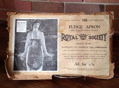 Antique Royal Society Fudge Apron #166 Complete - Rare - Embroidery - 1920's