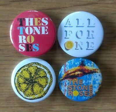 The Stone Roses 25mm button badges set of 4