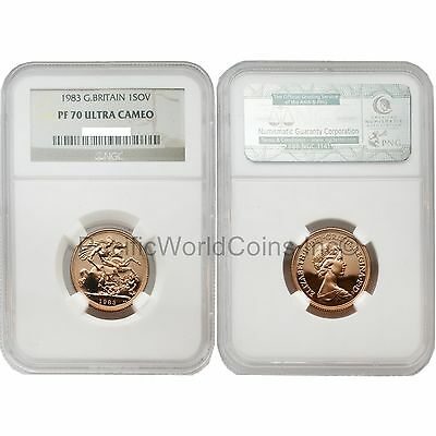 Great Britain 1983 Sovereign Gold NGC PF70 ULTRA CAMEO