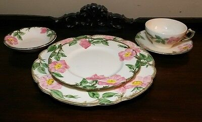 Franciscan ware Desert Rose USA 5pc Place Setting Plates, Bowl Cup & Sauc