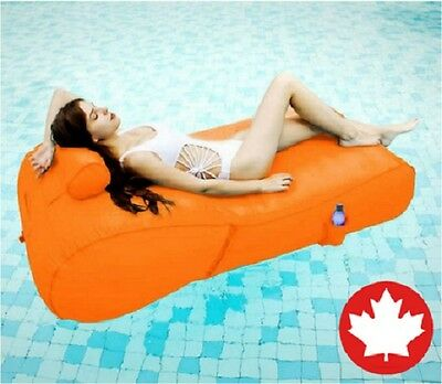 Aqua Float Inflatable Lounger Swim Raft Pool Beach Deck Lake River Sun Tan