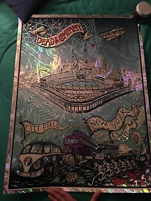Dead and Company Citi Field New York Foil Dubois Poster 6/24 - Limited Ed Mint
