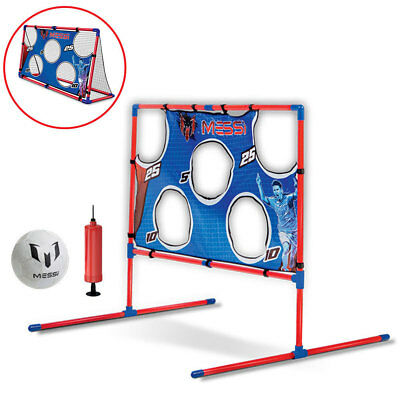 Messi Training System 2 in 1 Footvolley Goal w/ Soccer Ball/Pump Kids Game/Toy
