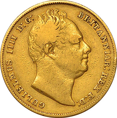 1832 Sovereign Rare First Bust William Iv  ®1065