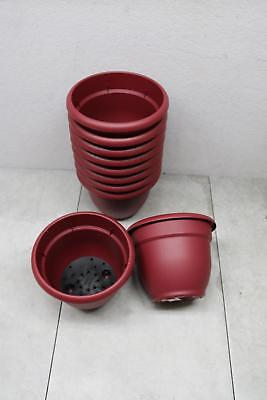 """10x Lot - Bloem Union Red Resin Ariana Planter 6"""" Self Watering Grid Made USA"""