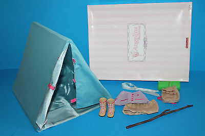 American Girl Angelina Ballerina Tent Camping Set in Original Box Complete Wow