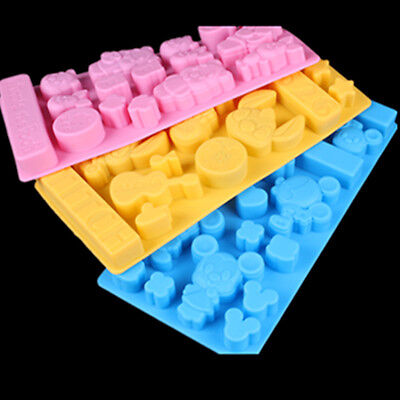 Disney Character 3D Brick Mold Silicone Tray Chocolate Ice Cube Jelly Fun Mould