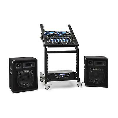 "Promo! Set DJ PA Rack Star Series ""Neptun Palace"" 250 personnes Bluetooth - neuf"