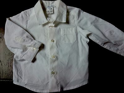 Boys white designer shirt by jacadi Paris, never worn NWOT, size 00 (0-6 mths)