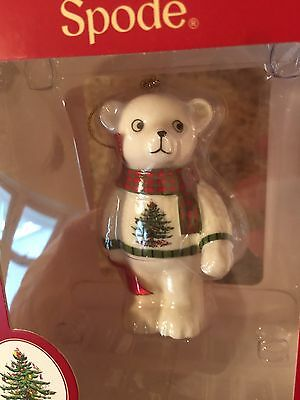 Christmas Tree Spode Collectible A Teddy Bear Christmas Ornament