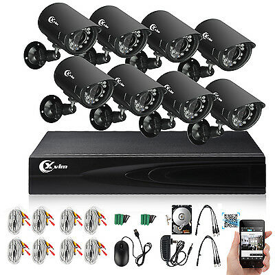 XVIM 8CH 1080N HDMI DVR 1200TVL Outdoor CCTV Home Security Camera System 1TB IR