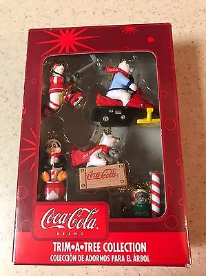 Trim-A-Tree Collection Coca Cola Christmas Ornaments. Miniature. NIB.