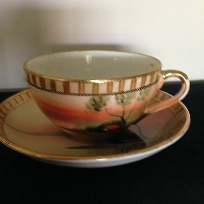 Vintage Hand Painted Made in  Japan teacup and Saucer Noritake
