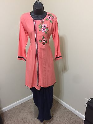 Indian Pakistan Bollywood Kurti Women RAYON PATIALADesigner Dress Top US size 42