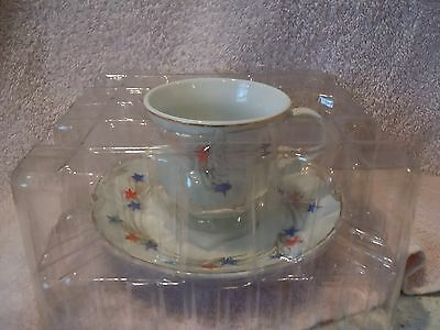 New 4th of July Themed Teacup and Saucer