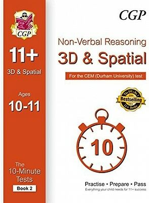 10-Minute Tests For 11+ Non-Verbal Reasoning: 3D And Spatial Ages 10-11 (Book -