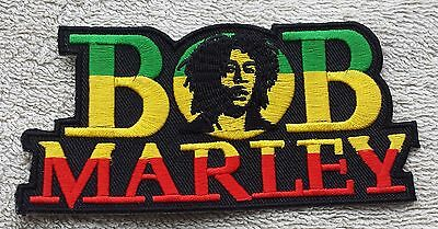 BOB MARLEY RASTA HAT CANNABIS PATCH Cloth Badge//Emblem Reggae Rastafarian Jah