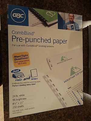 GBC CombBind Pre-Punched Paper