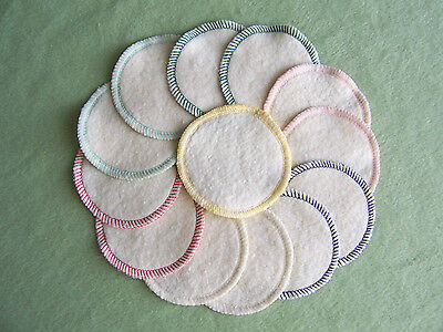 Hemp Organic Cotton Facial Cleansing Rounds Pads Washable Reusable Eco Friendly