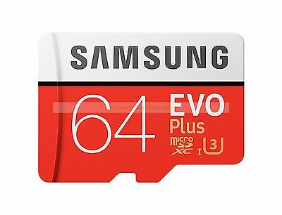 Samsung Micro SDXC 64GB EVO Plus 100MB/s Read 60MB/s Write Memory Card New ct UK
