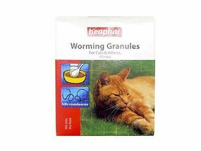 Beaphar Worming Wormer Granules Powder for Cats Dewormer New