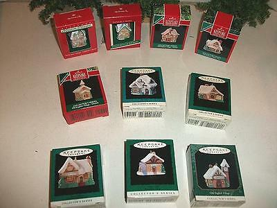 Hallmark Miniature Old English Village Collectors Series 10Pc. Set 1988-97 Incl