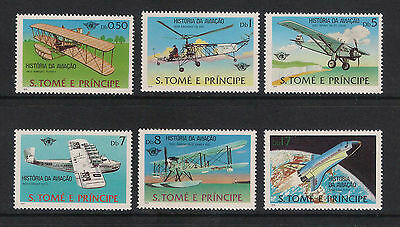 Sao Tome Principe -1979  History Of Aviation Full Set 6 - Mint Unhinged - Superb