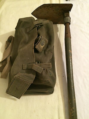 Military Folding Shovel And Carrying Bag Vintage 1965 Military Murphy