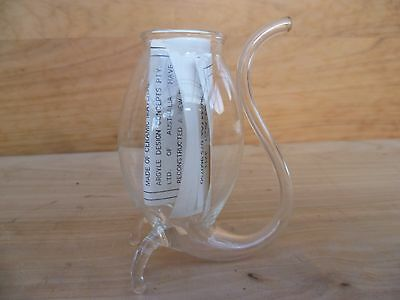 Old Australian Hand Blown Port Glass & Instructions (A363)