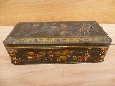 Vintage Old Berry Design Household Biscuit Tin, (A524)