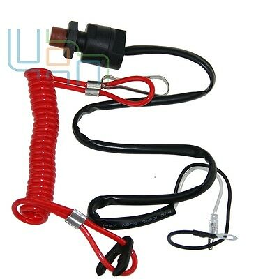 Universal Boat Outboard Engine Motor Emergency Stop Switch&Safety Tether Lanyard