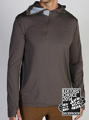 Exofficio Sol Cool Ultimate Hoody, Mens Sun Shirt, Cigar Brown, S