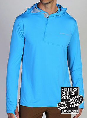 Exofficio Sol Cool Ultimate Hoody, Mens Sun Shirt, Malibu Blue, M