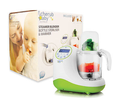Cherub Baby Steamer Blender Bottle Warmer Steriliser Baby Food Preparation Unit