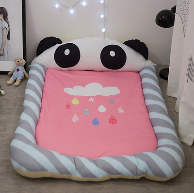 Large Portable Baby Kids Bed Play Mat Crawling Blanket Soft 100%Cotton 140*100cm