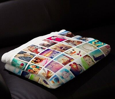 Custom Baby Blanket Photo Plush Fleece Personalized and Fully Customizable