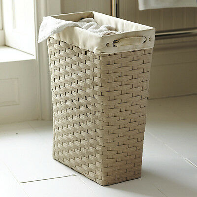 NEW Lakeland 24674  Slim Woven Lined Tall Laundry Basket 30L