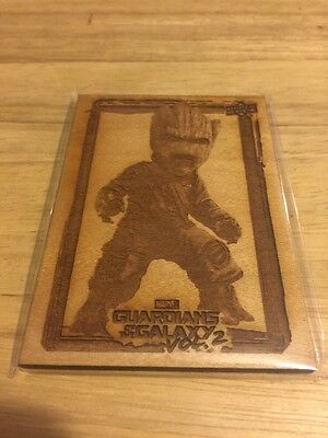 2017 Upper Deck Guardians Of The Galaxy Groot's Roots Birch Wood Card GR-10