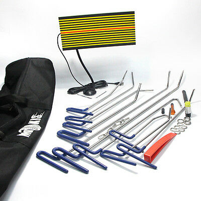 Paintless PDR Réparation Débosselage Réflecteur LED Board Hail Tiges Outils Kits