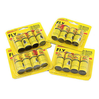 16 Rolls Insect Bug Fly Glue Paper Catcher Trap Ribbon Tapa Strip Sticky Fies H
