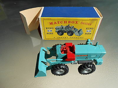 Vintage Matchbox K10 Aveling-Barford Tractor Loader KING SIZE with Original Box