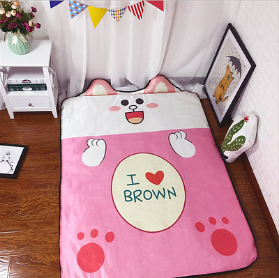 New Large Portable Baby Kids Gym Play Mat Crawling Blanket Soft Cotton 130*180cm