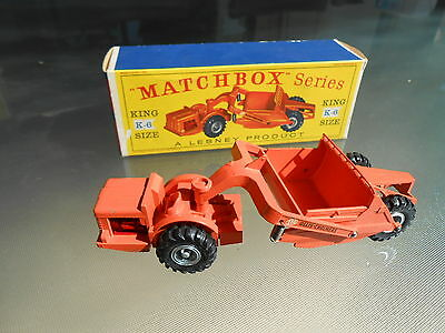 Vintage Matchbox K6 Allis-Chalmers Earth Scraper KING SIZE with Original Box