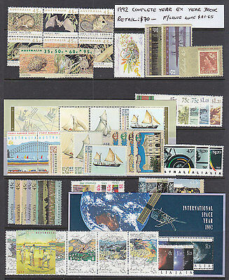 1992 Decimal Year Set, Ex Year Book,  All  Stamps Perfect Muh.