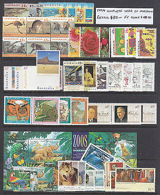1994 Decimal Year Set, Ex Year Book,  All  Stamps Perfect Muh.