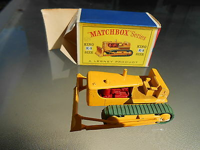 Vintage Matchbox K3 Caterpillar D9 Bulldozer KING SIZE with Original Box